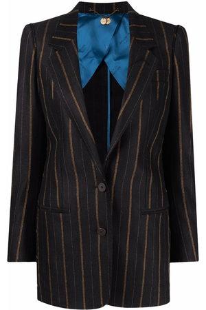 MAURIZIO MIRI Striped single-breasted blazer