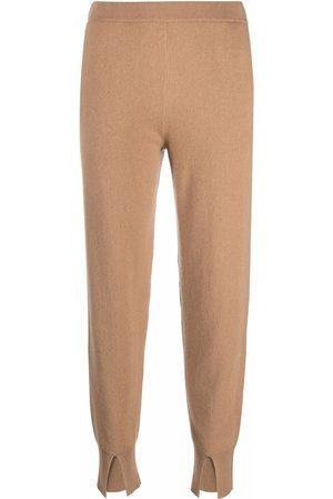 THEORY Slit-detail cashmere sweatpants - Neutrals