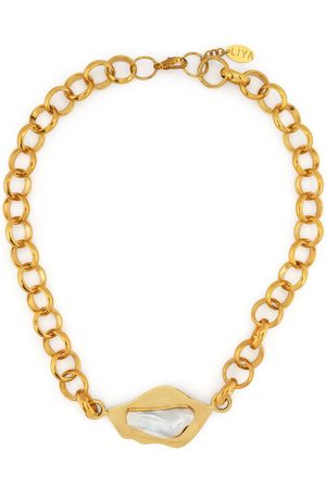 Liya Pearl-detail chain necklace