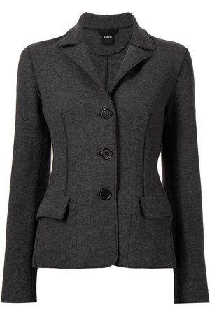 Aspesi Fitted button-down blazer - Grey