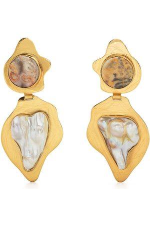 Liya Slim drop earrings