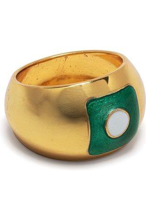Liya Women Rings - Enamel detail ring - Metallic