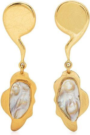 Liya Tiger pearl earrings