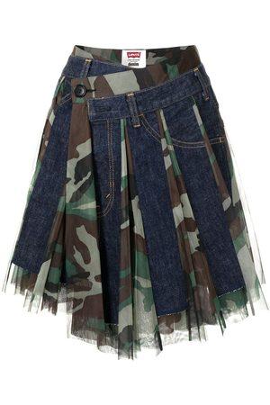 JUNYA WATANABE Asymmetric camo skirt