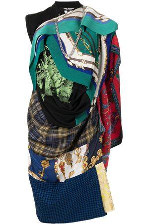 JUNYA WATANABE Patchwork asymmetric cotton dress - Multicolour