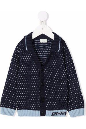 Fendi Intarsia-knit buttoned cardigan