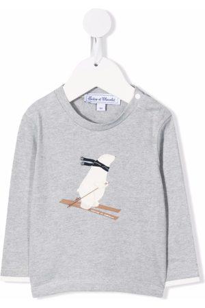 Tartine Et Chocolat Long Sleeve - Polar bear-print long-sleeve T-shirt