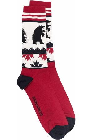 Dsquared2 Men Socks - Intarsia-knit ankle socks