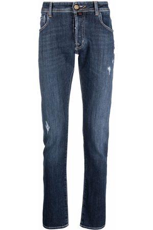 Jacob Cohen Men Skinny - Slim-cut distressed jean