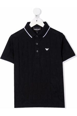 Emporio Armani Jacquard-logo cotton polo shirt