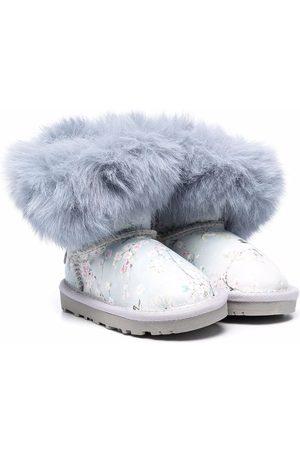 MONNALISA Girls Snow Boots - Faux fur-trimmed boots