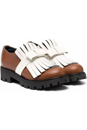Marni Tassel-bow leather loafers