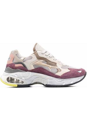 Premiata SharkyD chunky leather sneakers - Neutrals