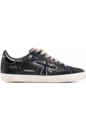 Premiata Stevend panelled low-top leather sneakers