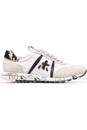 Premiata Panelled lace-up trainers - Neutrals