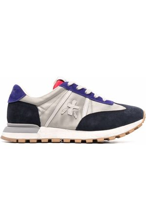 Premiata Panelled lace-up trainers - Grey