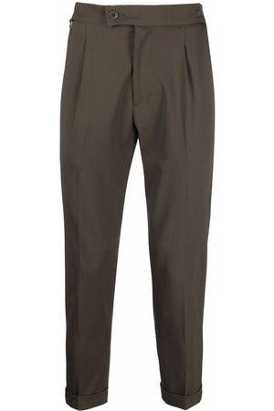 LOW BRAND Pleat-detail virgin-wool tailored trousers