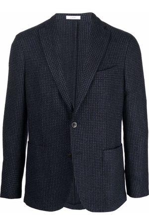 Boglioli Men Blazers - Checked single-breasted blazer