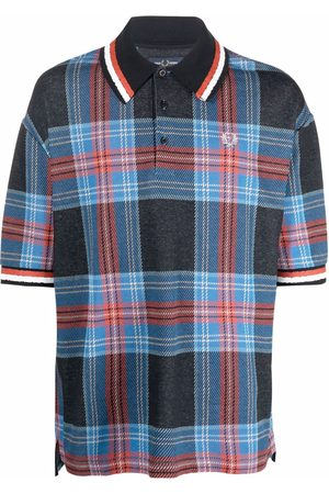 Fred Perry Tartan oversized polo shirt