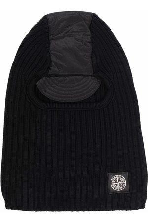 Stone Island Men Hats - Compass-patch ribbed knit balaclava