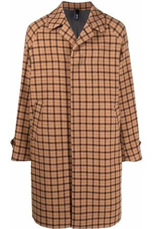 HEVO Oversized check-pattern coat