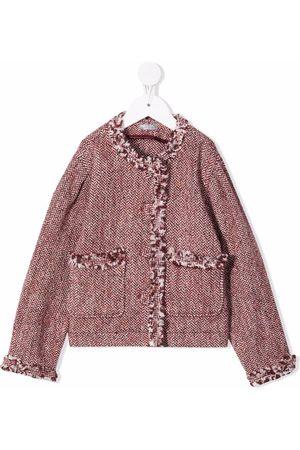 Il gufo Tweed frayed jacket
