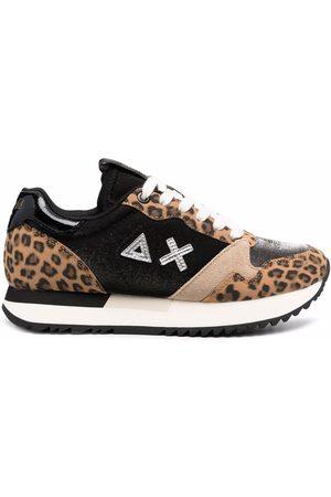 sun68 Leopard-print flatform sneakers
