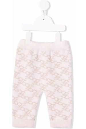 Fendi Intarsia monogram knitted track pants