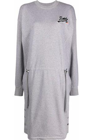 HUGO BOSS X Russell Athletic sweatshirt dress - Grey