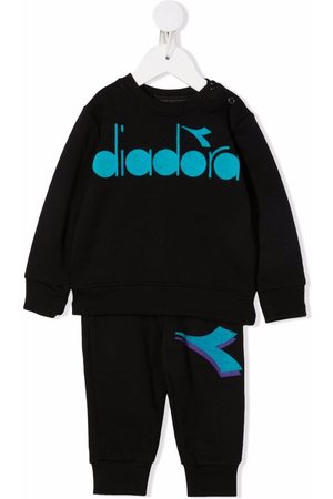 Diadora Logo-print cotton tracksuit set