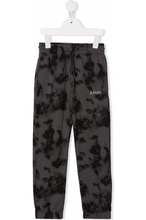 Levi's Logo-embroidered tie-dye track pants - Grey