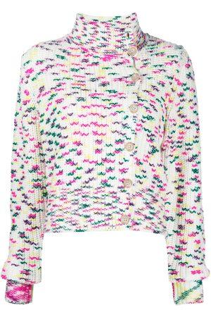 Cinq A Sept Women Cardigans - Speckle-knit asymmetric cardigan - Multicolour