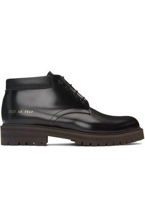 COMMON PROJECTS Men Formal Shoes - Black Combat Derby Boots