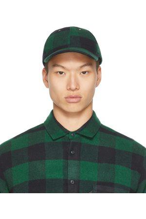 YMC Black & Green Check Cap
