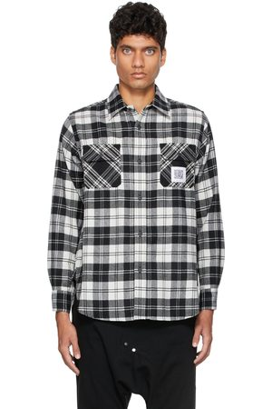 Fumito Ganryu Pleated Flannel Shirt Jacket