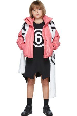MM6 MAISON MARGIELA Kids Black Logo Print Long Sleeve Dress