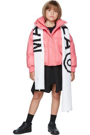 MM6 MAISON MARGIELA Kids Pink Faux-Leather Puffer Jacket