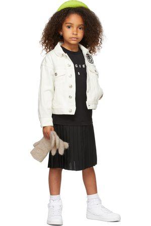 MM6 MAISON MARGIELA Kids Black Logo Print T-Shirt Dress