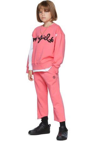 MM6 MAISON MARGIELA Kids Pink Wide Leg Lounge Pants