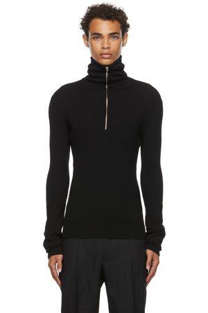 Jil Sander SSENSE Exclusive Black Wool Rib Turtleneck