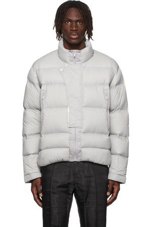 C2H4 Grey Down Filtered Reality Puffer Jacket