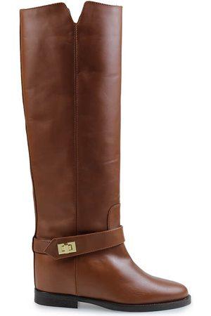 Via Roma Boots Women Leather Pelle