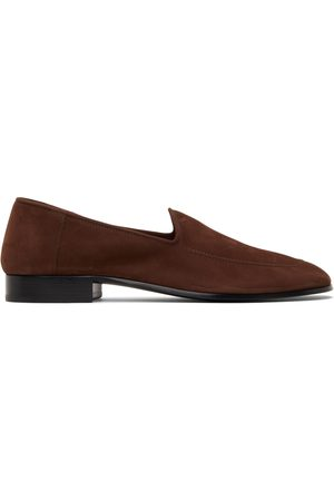 The Row Nubuck Mocassin Loafers