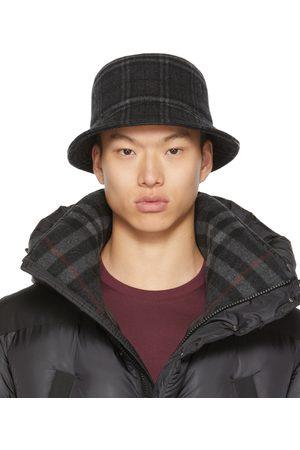Burberry Grey Check Bucket Hat