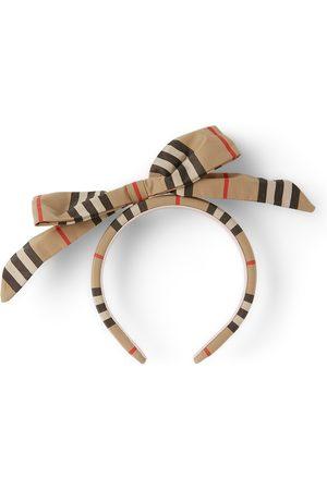 Burberry Kids Icon Stripe Bow Detail Headband
