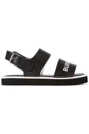 Burberry Kids Leather Malverton Logo Sandals