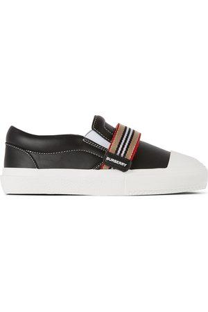 Burberry Kids Icon Stripe Ben Slip-On Sneakers