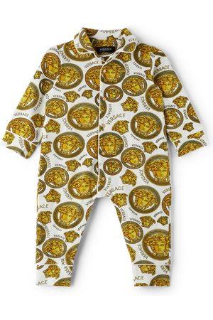 VERSACE Baby White & Gold Medusa Amplified Bodysuit