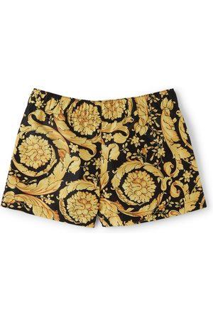 VERSACE Baby Black & Gold Barocco Swim Shorts