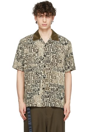 SACAI Off-White Eric Haze Edition Message Print Short Sleeve Shirt